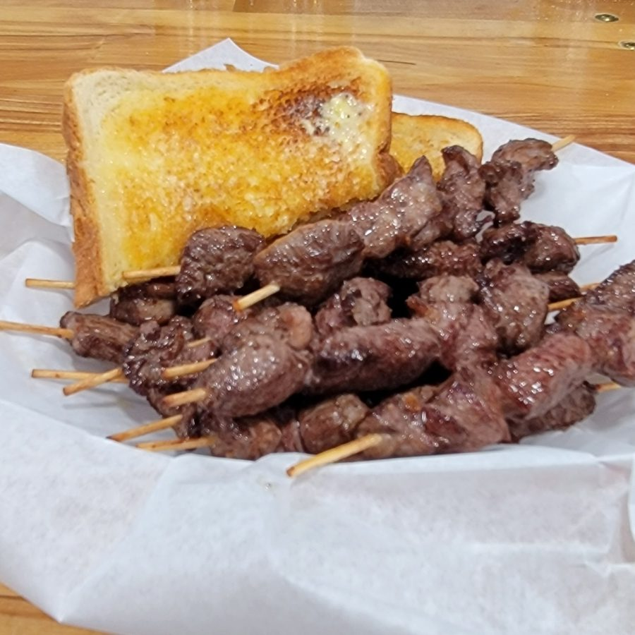 Grab a bite of our Chislic and Toast - One of our customer favorites!